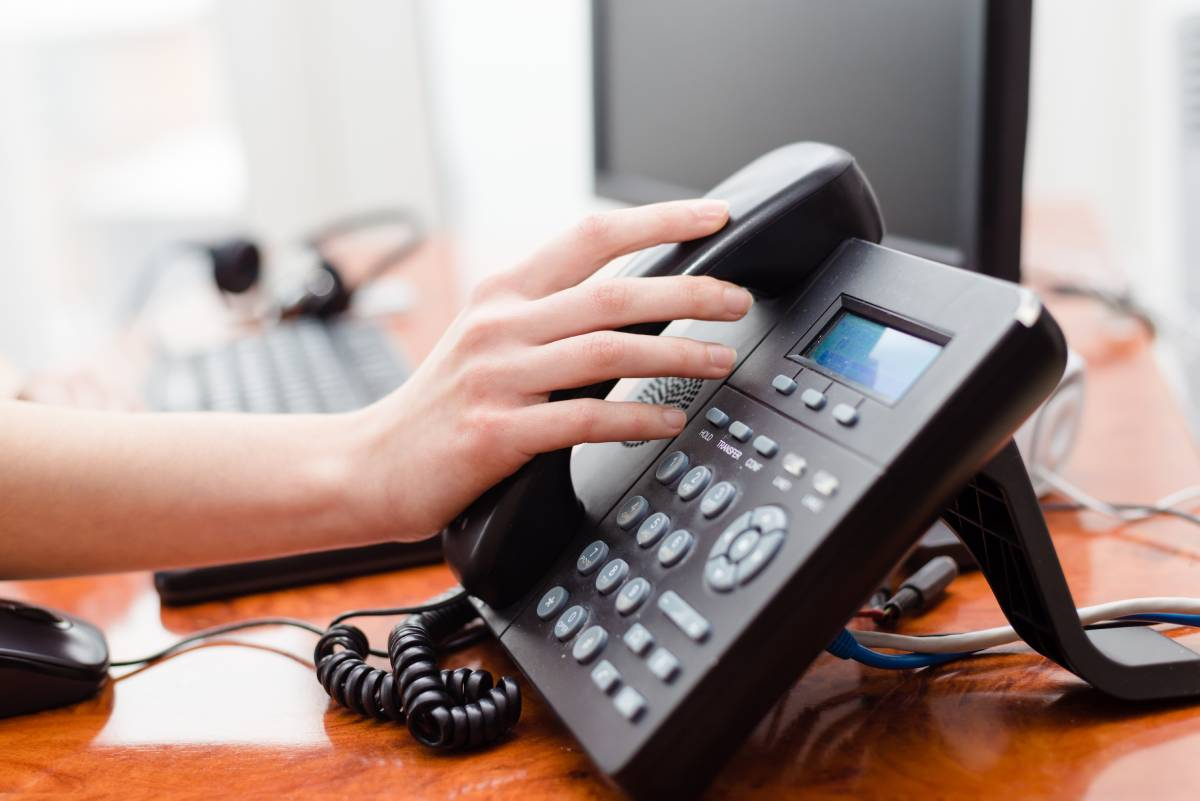 User interaction on a VoIP phone