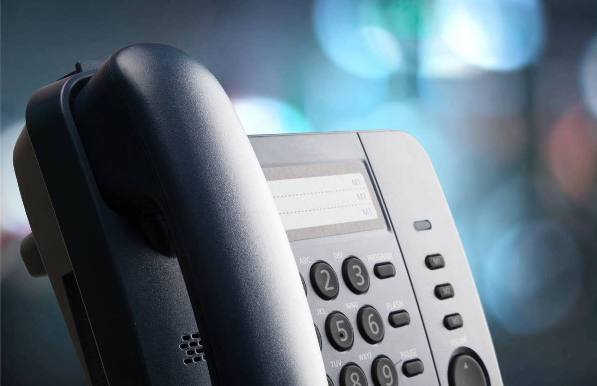 Close-up on VoIP Phone